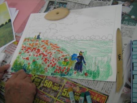 アムス一日教室「クレパス画講座」が行われました_f0238969_187441.jpg