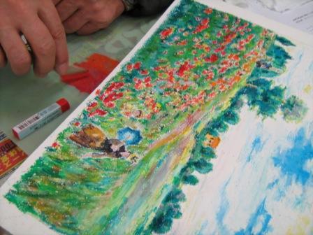 アムス一日教室「クレパス画講座」が行われました_f0238969_1892152.jpg