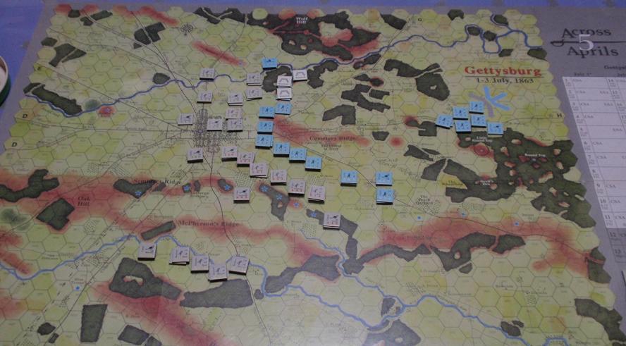 <VG>Across 5 Aprils「ゲティスバーグの戦い」をソロプレイ①_b0162202_1944719.jpg