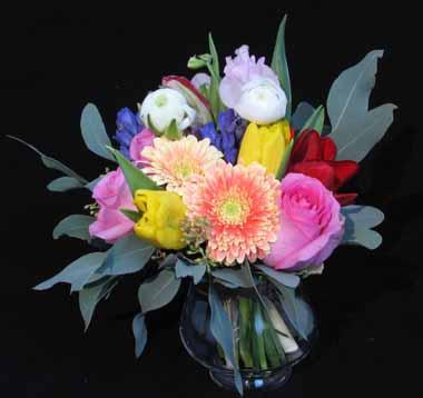 春の香りを束ねるブーケ*1月ホビーコース_f0134809_18113192.jpg