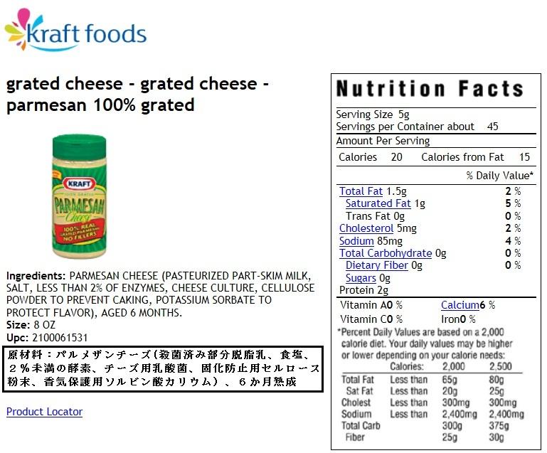 消費者庁と食品表示(一元化、偽装表示、不正表示、食品表示110番、パルメザンチーズ、食品添加物)_e0223735_1753576.jpg
