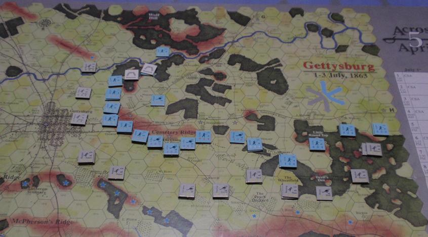 <VG>Across 5 Aprils「ゲティスバーグの戦い」をソロプレイ②_b0162202_18541049.jpg