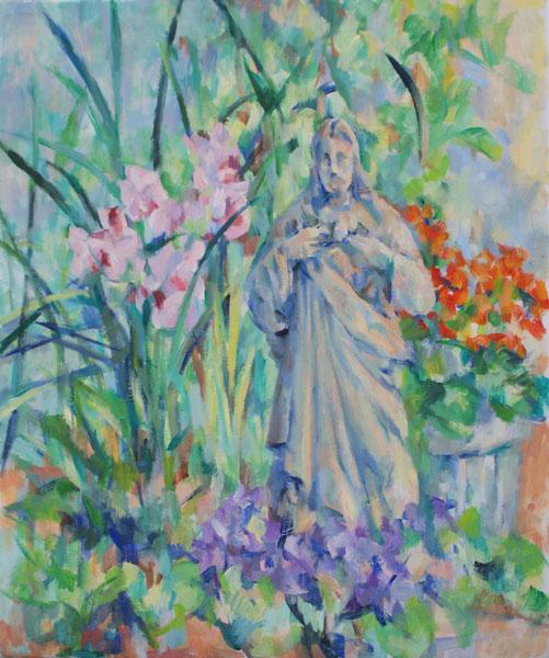 花とキリスト(完成)_c0236929_17532620.jpg