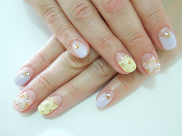 Sherbet Color Nail_a0239065_11581460.jpg