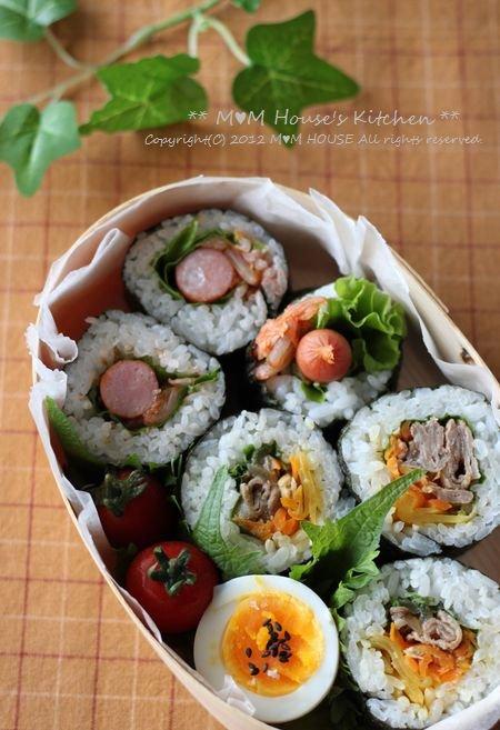 韓国風海苔巻弁当 ☆ 鯖のネギ味噌グリル焼き♪_c0139375_11511287.jpg