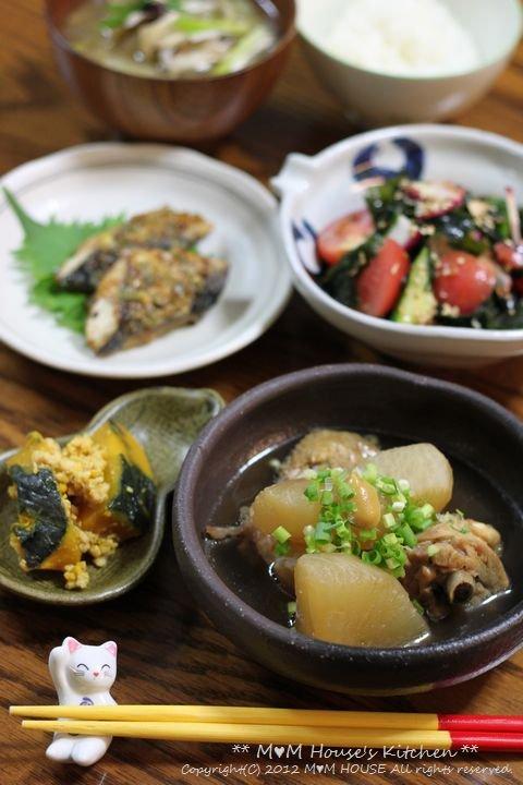 韓国風海苔巻弁当 ☆ 鯖のネギ味噌グリル焼き♪_c0139375_11522553.jpg