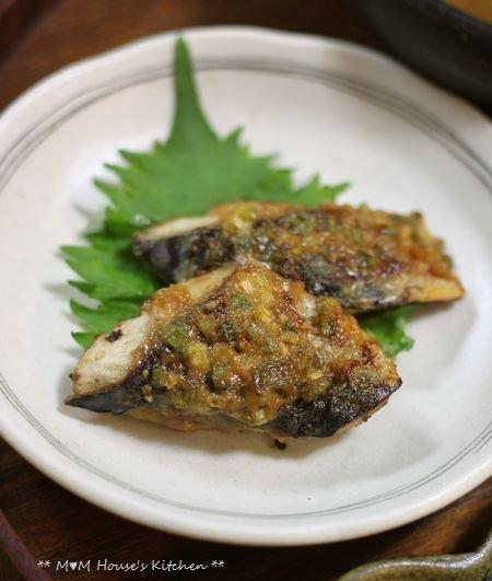 韓国風海苔巻弁当 ☆ 鯖のネギ味噌グリル焼き♪_c0139375_11523416.jpg