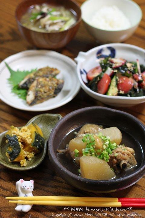 韓国風海苔巻弁当 ☆ 鯖のネギ味噌グリル焼き♪_c0139375_11535214.jpg