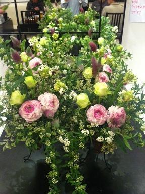 お花の教室終了^。^_c0187025_13333742.jpg