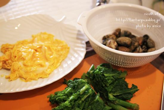 旬な料理☆アサリと菜の花の餡かけ卵_f0192151_2153111.jpg