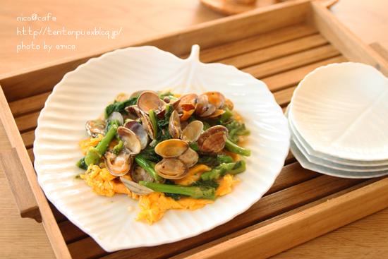 旬な料理☆アサリと菜の花の餡かけ卵_f0192151_2154712.jpg