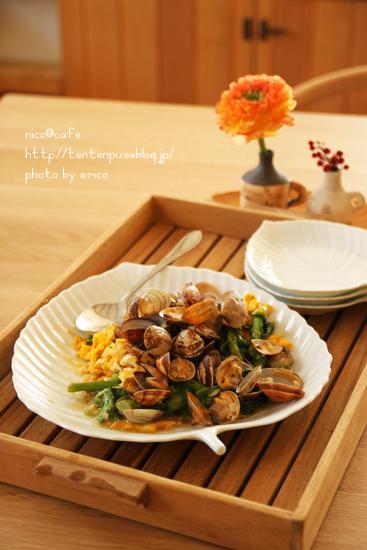 旬な料理☆アサリと菜の花の餡かけ卵_f0192151_2194881.jpg
