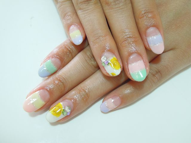 Colorful Sherbet Nail_a0239065_12444026.jpg