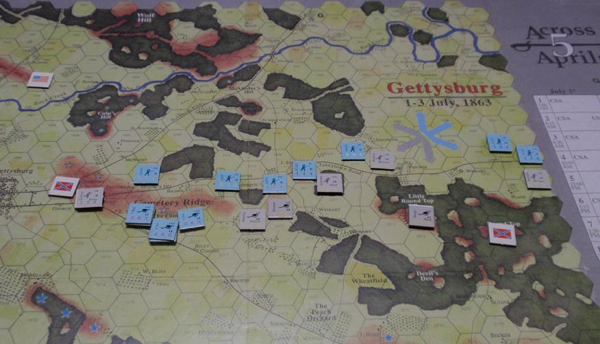 <VG>Across 5 Aprils「ゲティスバーグの戦い」をソロプレイ③_b0162202_9571887.jpg