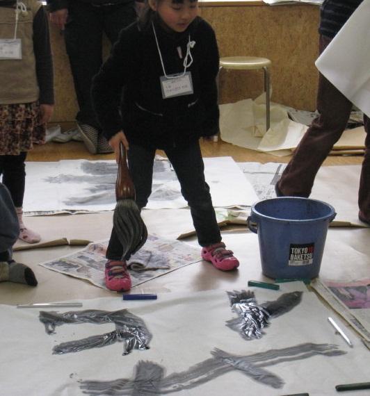 朝霞市放課後子ども教室筆と墨であそぼう(平成23年度第12回)_d0168831_2393961.jpg