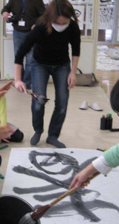 朝霞市放課後子ども教室筆と墨であそぼう(平成23年度第12回)_d0168831_2422576.jpg