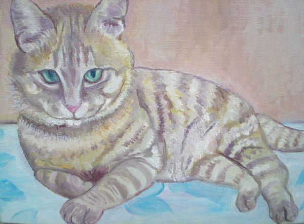 2012年3月12日(月)今日は猫の絵~!_f0060461_1744684.jpg