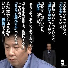 枝野経産相、東電は「ミスの数自体がケタ違い」:枝野の「ウソの数自体がケタ違い」!_e0171614_2023518.jpg