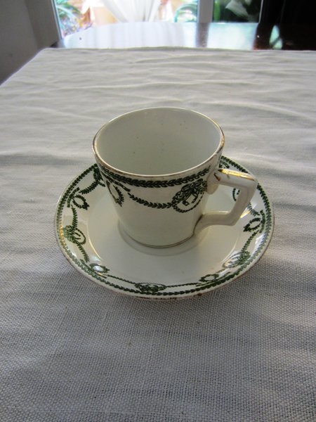 カルトゥーハ緑柄コーヒーカップ&ソーサー3 半額_f0112550_434842.jpg