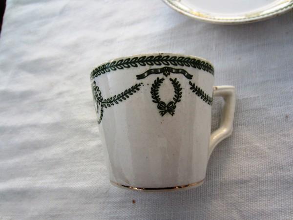 カルトゥーハ緑柄コーヒーカップ&ソーサー3 半額_f0112550_4354960.jpg