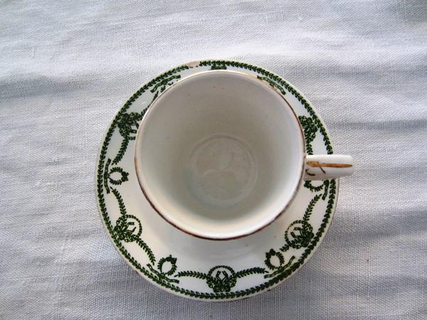 カルトゥーハ緑柄コーヒーカップ&ソーサー3 半額_f0112550_436727.jpg