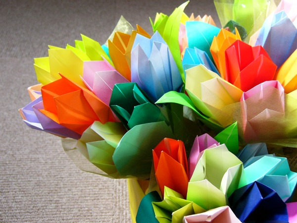 すべての折り紙 折り紙 バラの花束 : 圖片搜尋: 花束