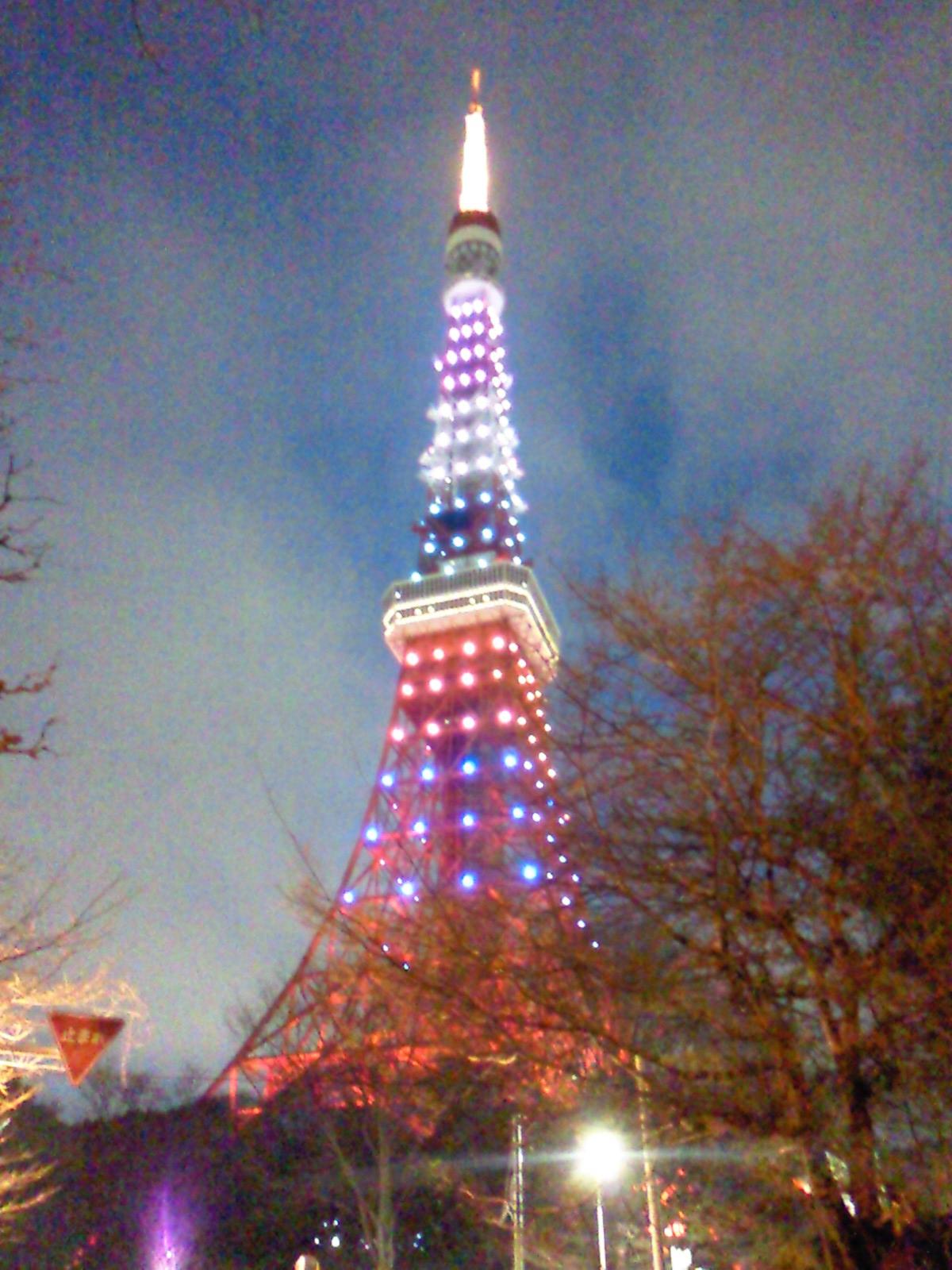 嵐カラーの東京タワー_e0237625_22103961.jpg