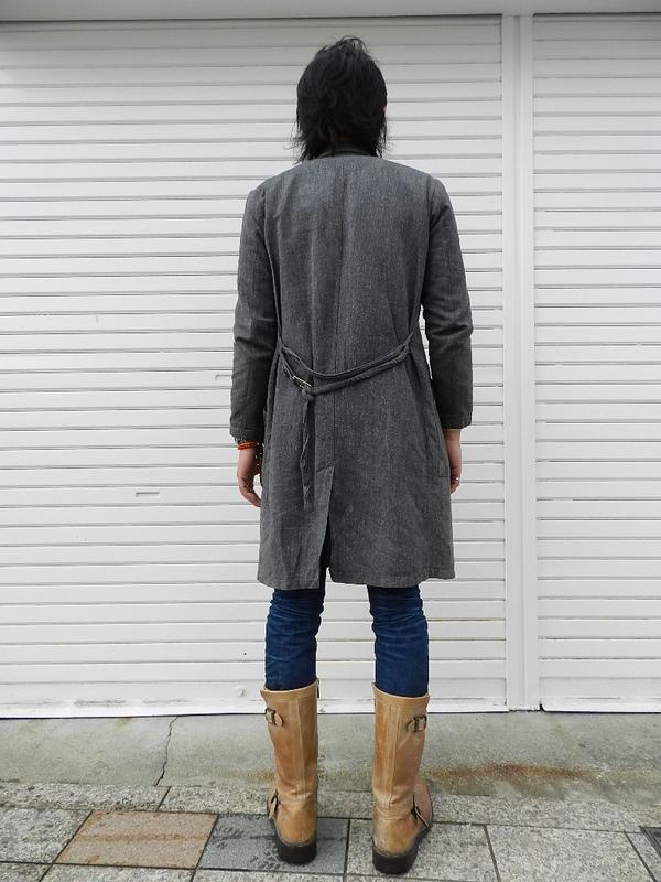 French Black chambray atelier coat dead stock 2012 spring snaps_f0226051_22172629.jpg