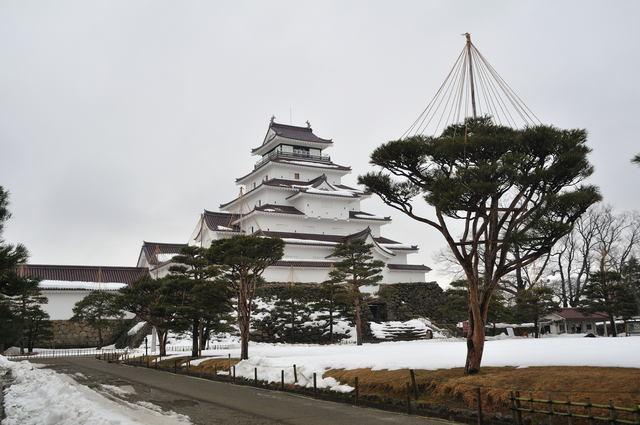 雪吊りのある鶴ヶ城_b0223668_9365666.jpg