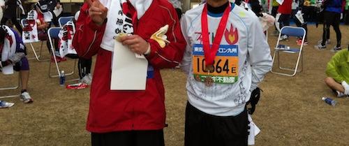 熊本城マラソン当日ラン6 ついにゴール_c0052304_23515248.jpg
