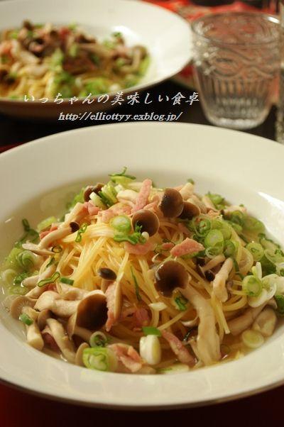 しめじとベーコンのスープスパ☆_d0104926_5551269.jpg
