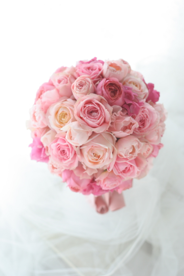 ラウンドブーケ ピンクのバラだけで ウエスティンホテル東京さまへ_a0042928_2148876.jpg