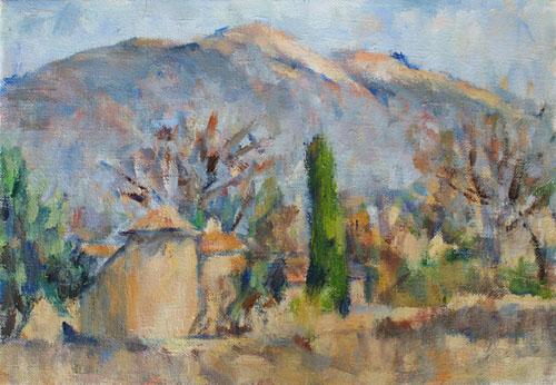 農家とヴァントゥー山(完成)_c0236929_19485493.jpg