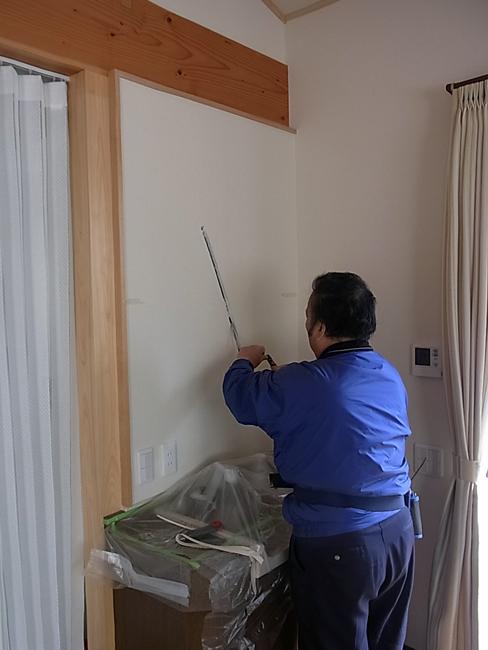 念願の壁面設置用家具を取付!_b0186200_18275857.jpg