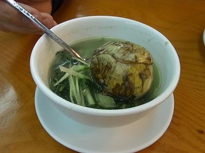 孵化した卵スープ