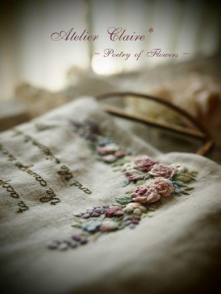 宝石の粒のような刺繍の花々_a0157409_1359488.jpg