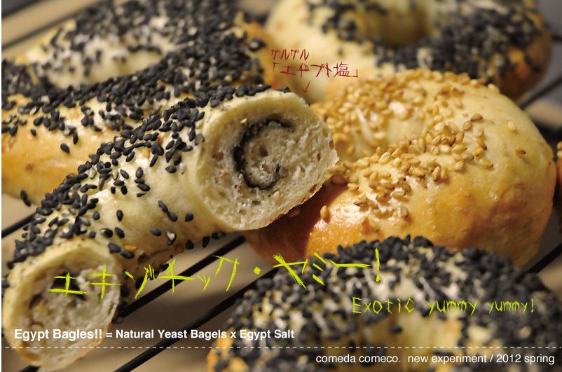 米田米子の実験キッチン:「天然酵母ベーグル」×「エヂプト塩」。_d0018646_19285832.jpg