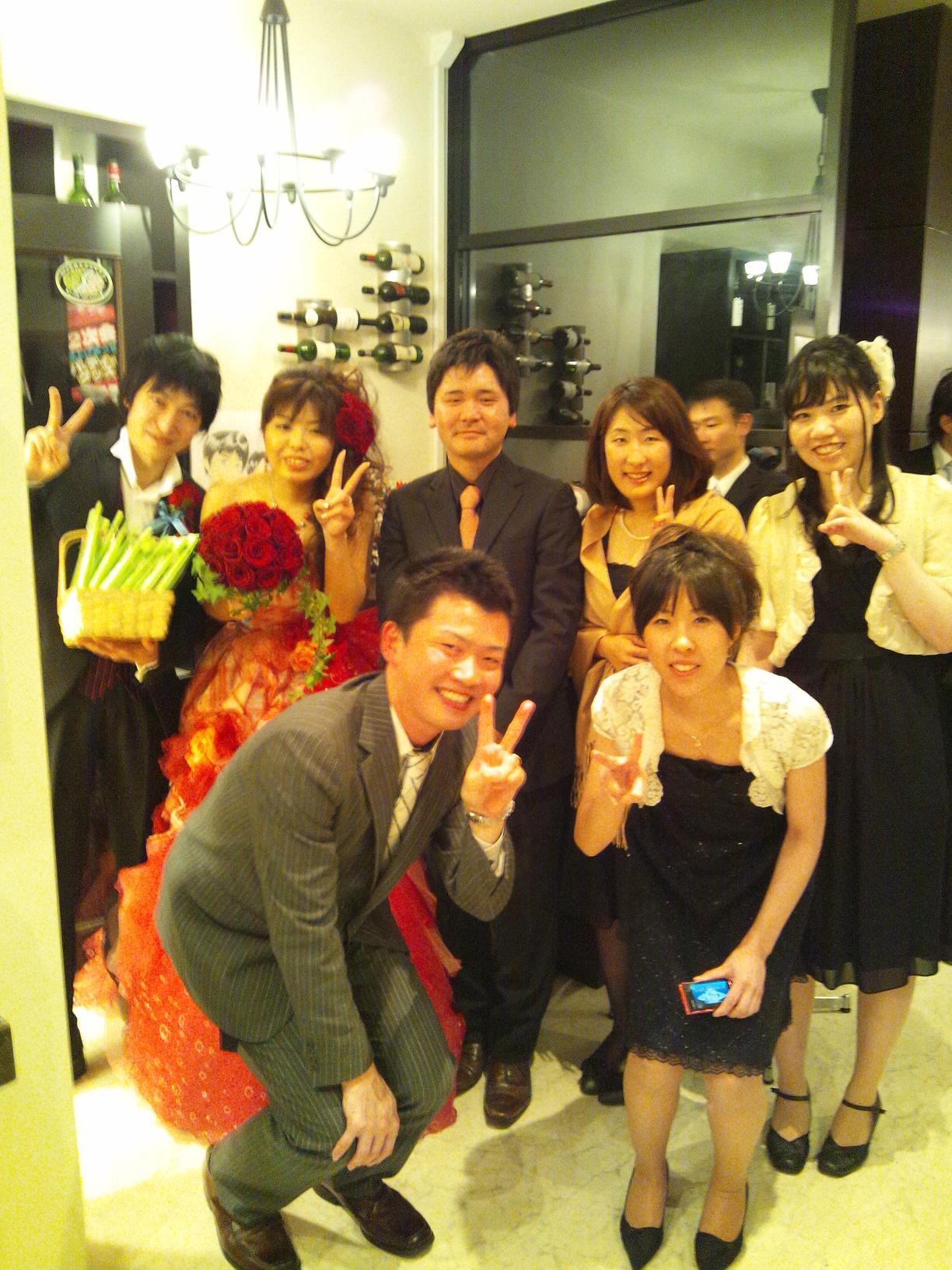 大学時代のクラブの後輩の結婚式・二次会に行ってきました(^O^)/_b0165454_9103198.jpg