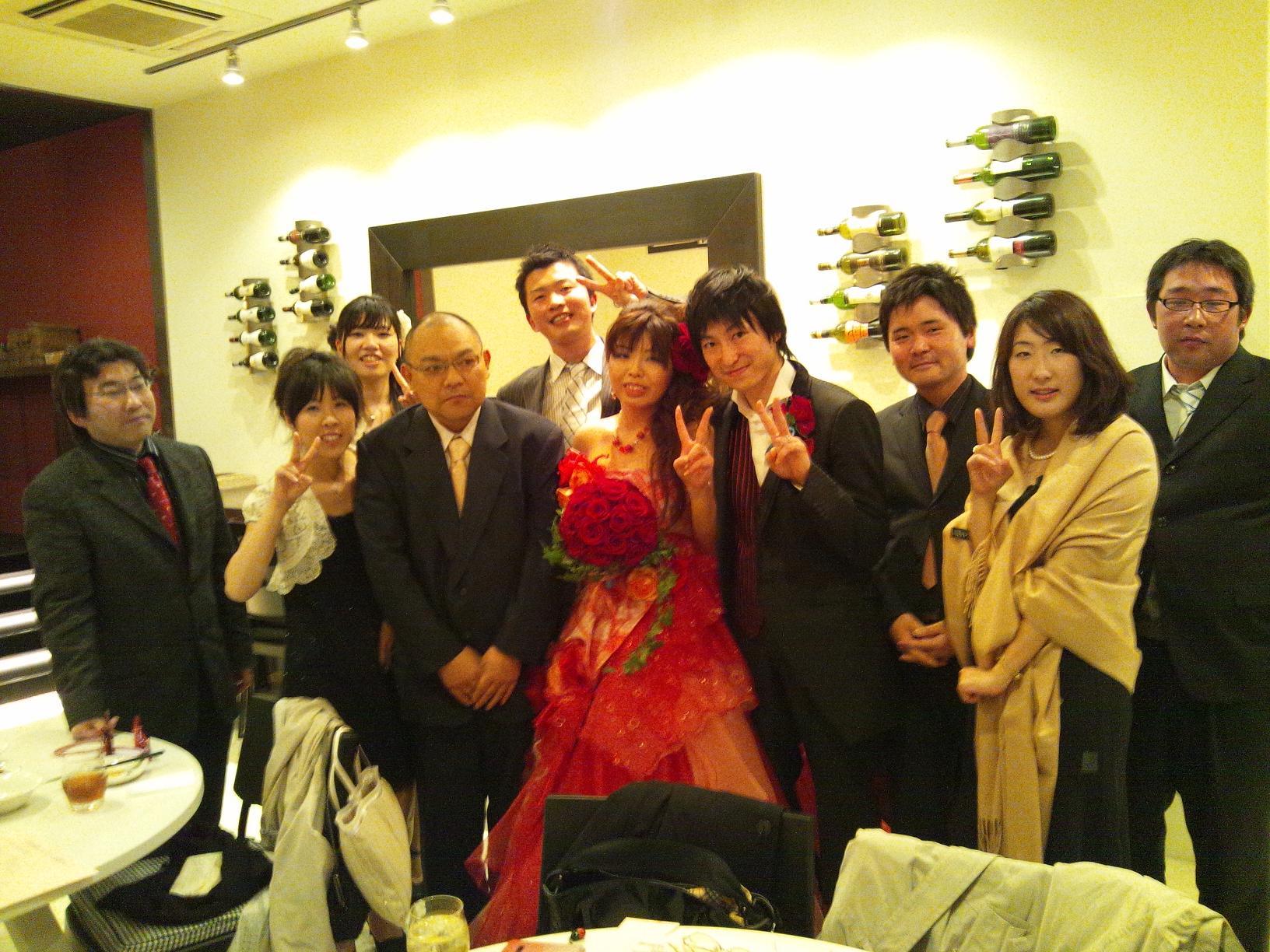 大学時代のクラブの後輩の結婚式・二次会に行ってきました(^O^)/_b0165454_995084.jpg