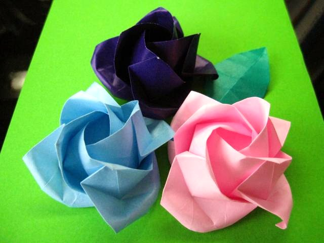 花 折り紙 立体 花 折り紙 : divulgando.net
