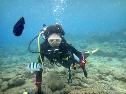 北谷のビーチで体験ダイビング!_a0156273_1714876.jpg