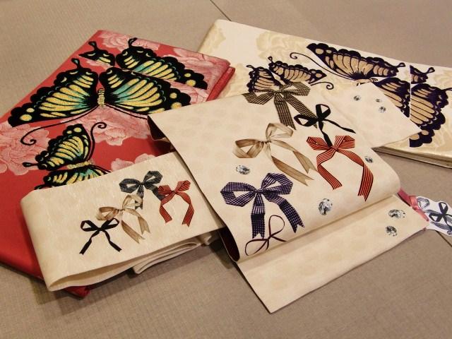 名古屋帯「リボン」*西陣織袋帯「蝶の帯」_e0167832_16511141.jpg