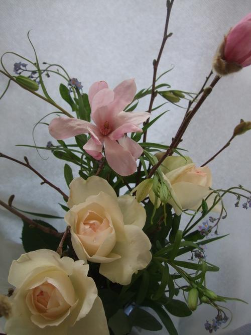 オークリーフ(シデコブシとバラの花束)_f0049672_142959.jpg