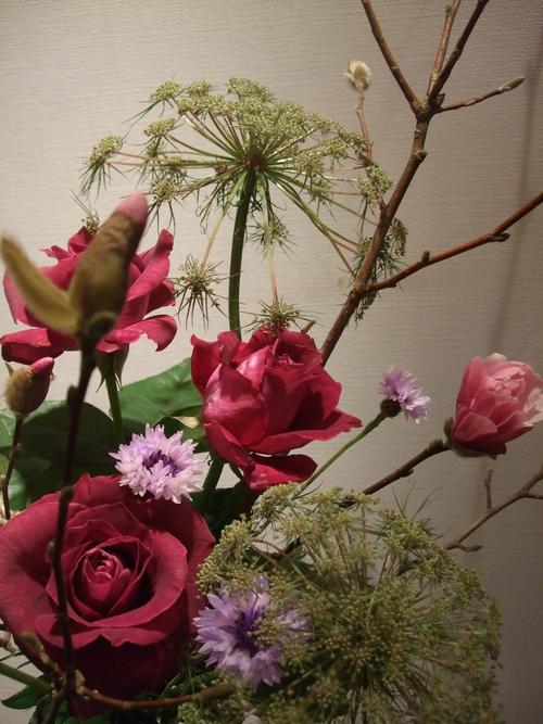 オークリーフ(シデコブシとバラの花束)_f0049672_148498.jpg