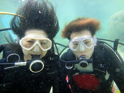 シュノーケルから体験ダイビングへ!_a0156273_1892561.jpg