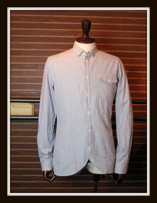 ◆Pin Oxford Round Hem Shirt_e0142928_20483114.jpg