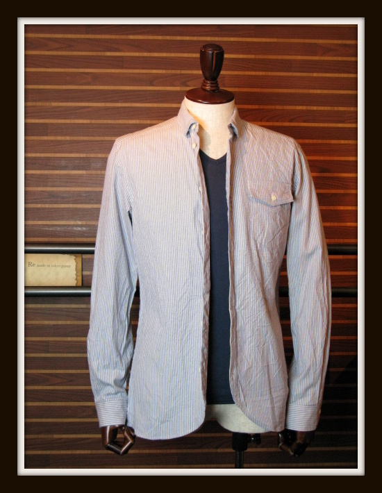 ◆Pin Oxford Round Hem Shirt_e0142928_20535481.jpg