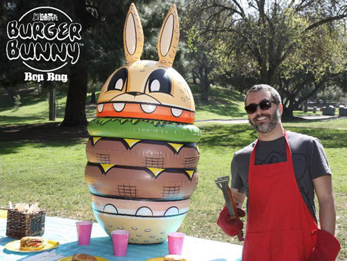 Joe Ledbetterの風船Burger Bunny_a0077842_7221917.jpg