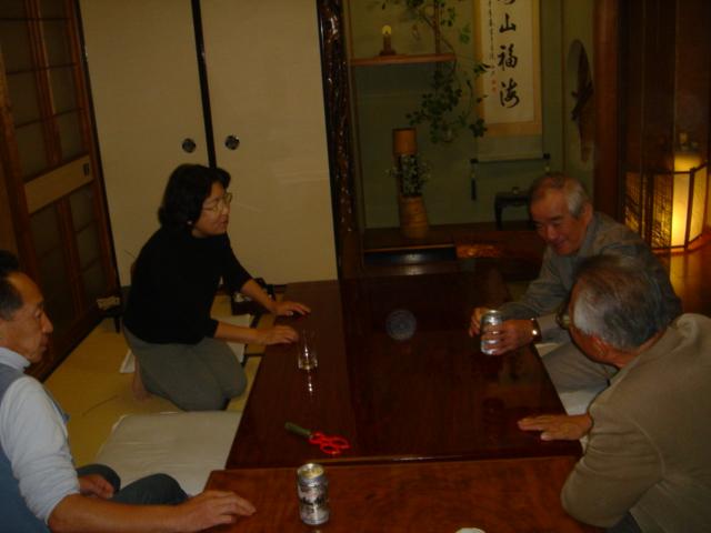 みさき里山クラブ松茸部会「モクズガニパーティー」 in 「仁べ」_c0108460_22574512.jpg