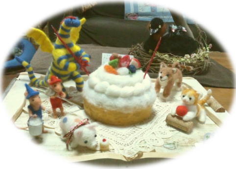 ケーキをつくろう@羊毛_d0142770_2221534.jpg